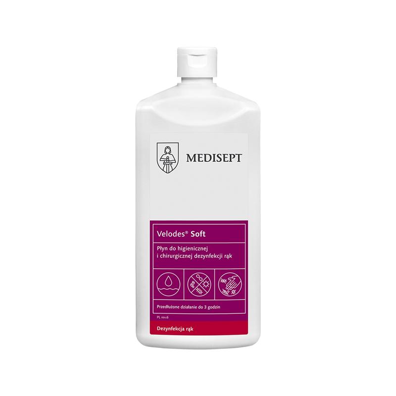 """VELODES SOFT """"500ML""""- płyn do dezynfekcji rąk-123"""